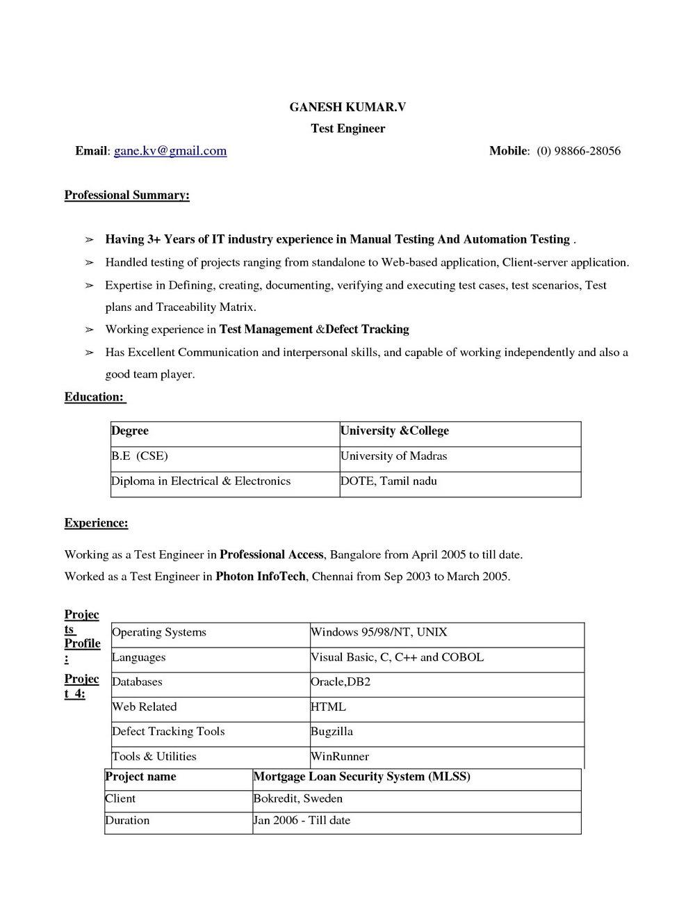 Free Resume Templates Microsoft Word 2014