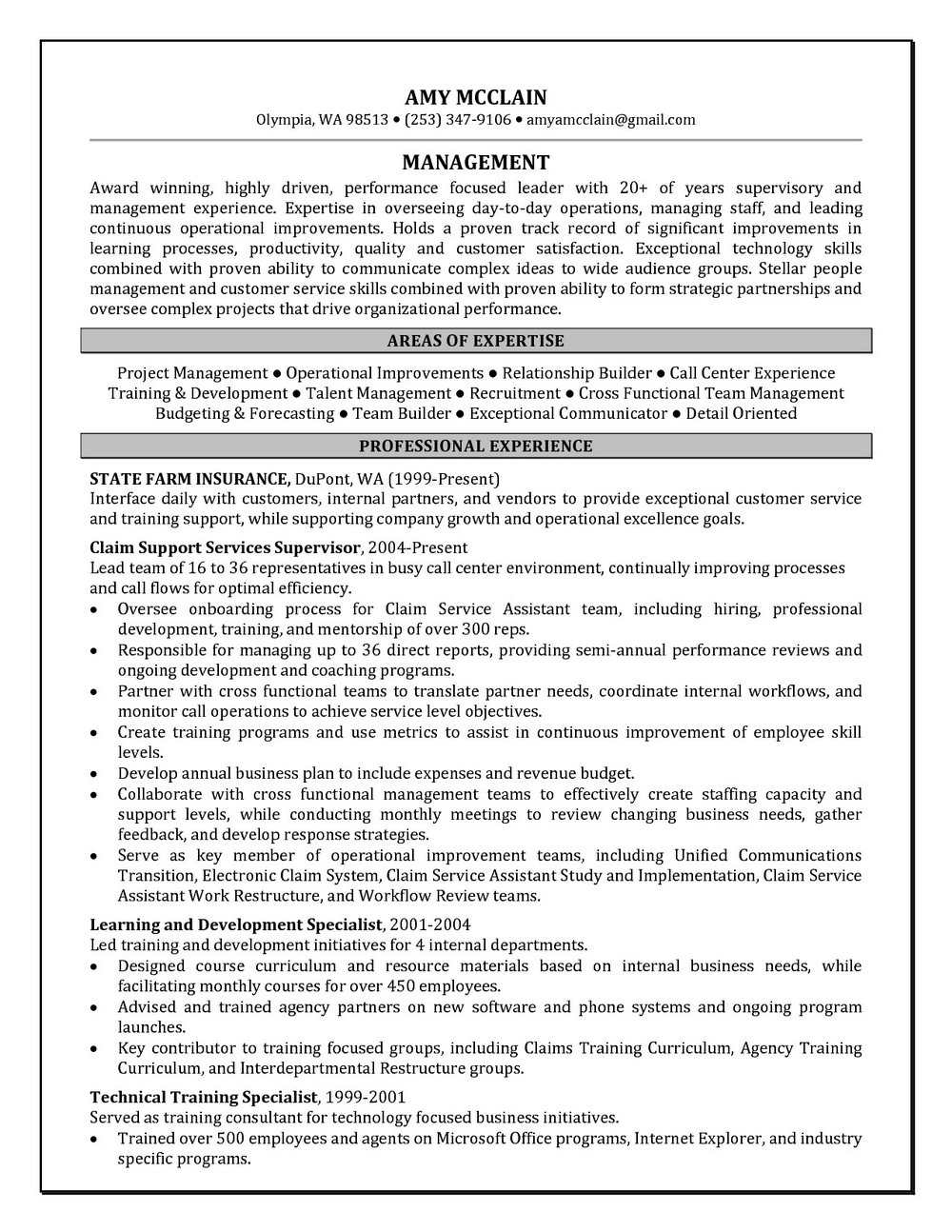 Inbound Outbound Call Centre Resume