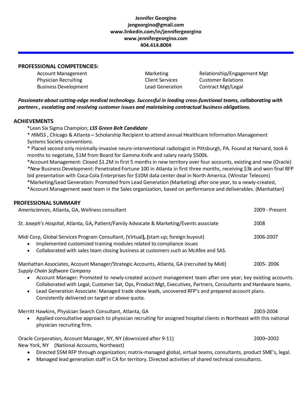 Lead Generation Manager Resume Sample
