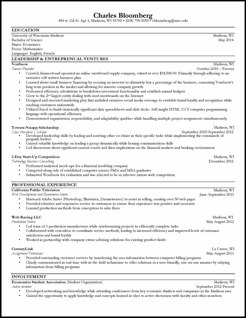 Mba Resume Format Word File Download