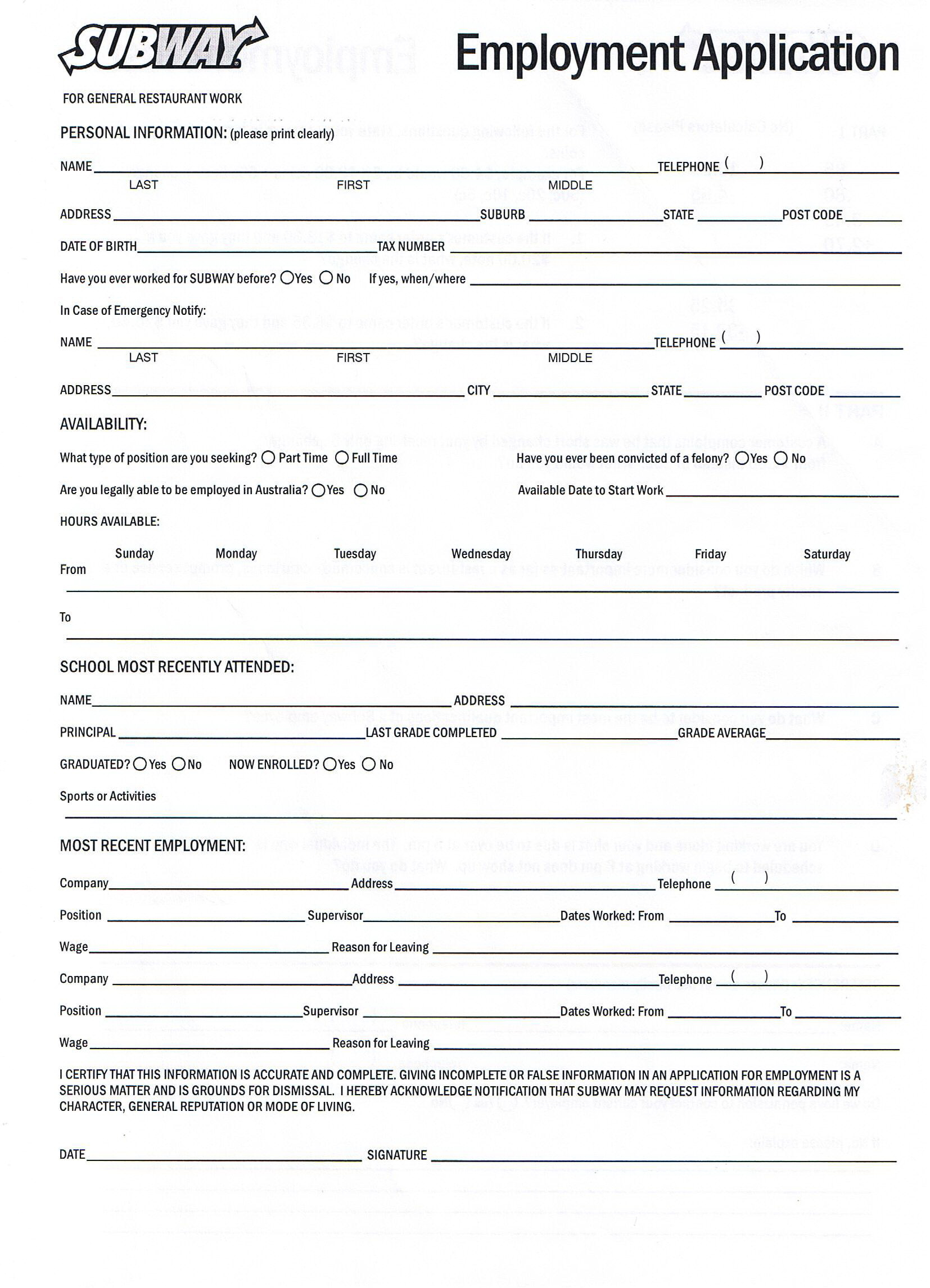 Mcdonalds Job Application Form Online Apply Now Uk