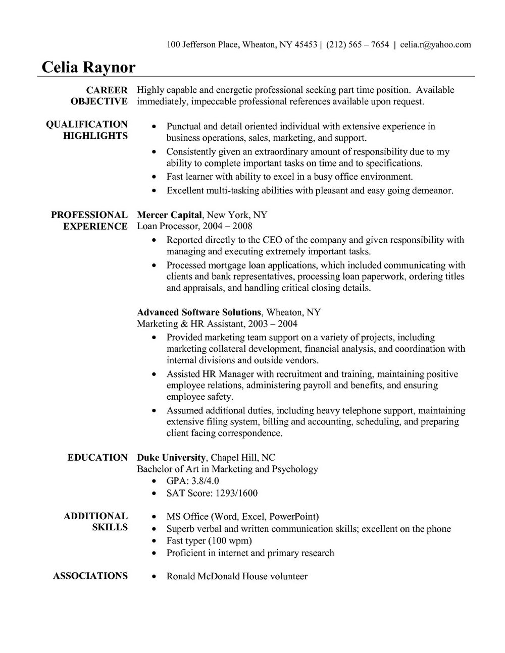 Medical Assistant Resume Examples Free