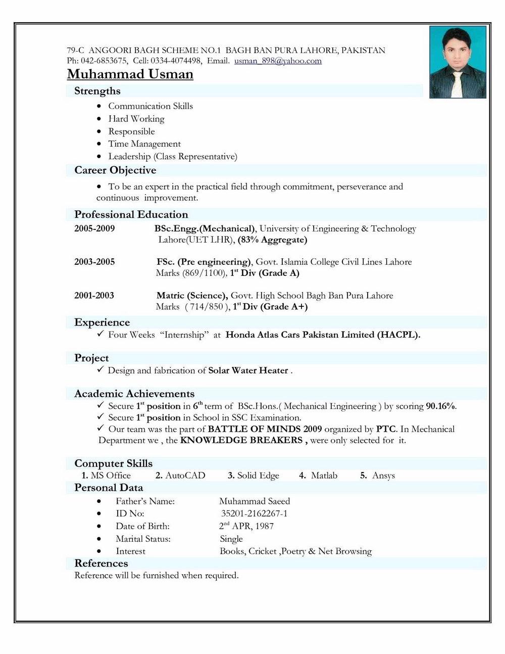 Microsoft Word Resume Templates 2011 Free