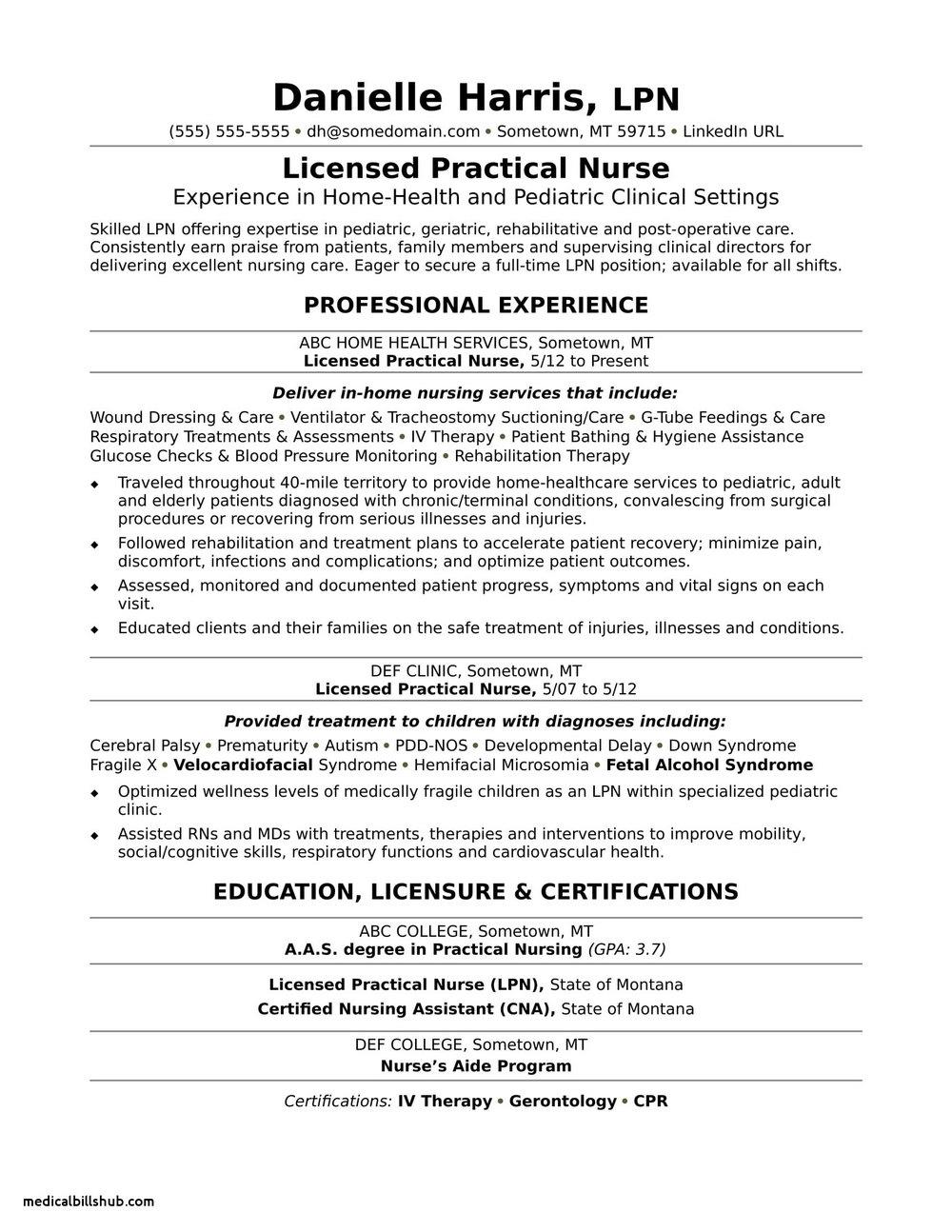 New Graduate Registered Nurse Resume Template
