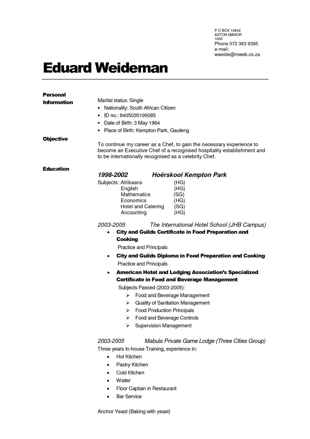 Really Free Resume Templates