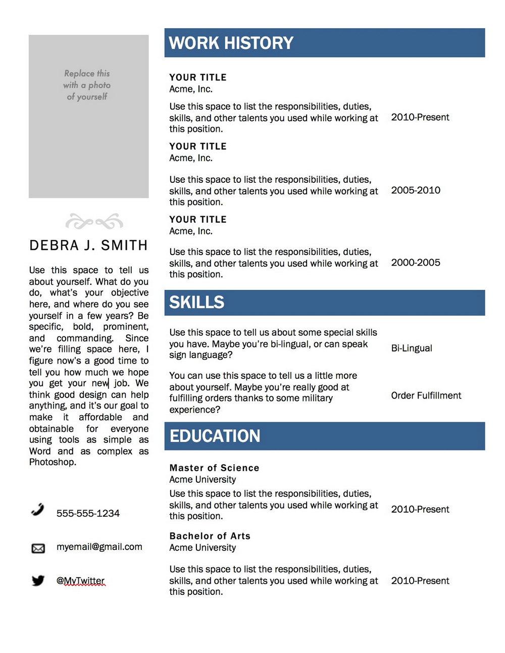 Resume Builder Programs For Mac