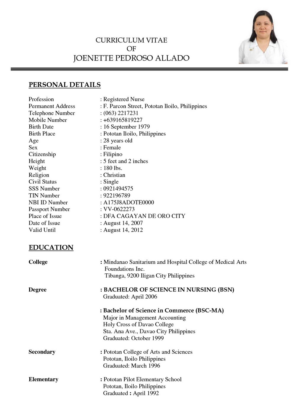 Resume Examples For Nurses Aide