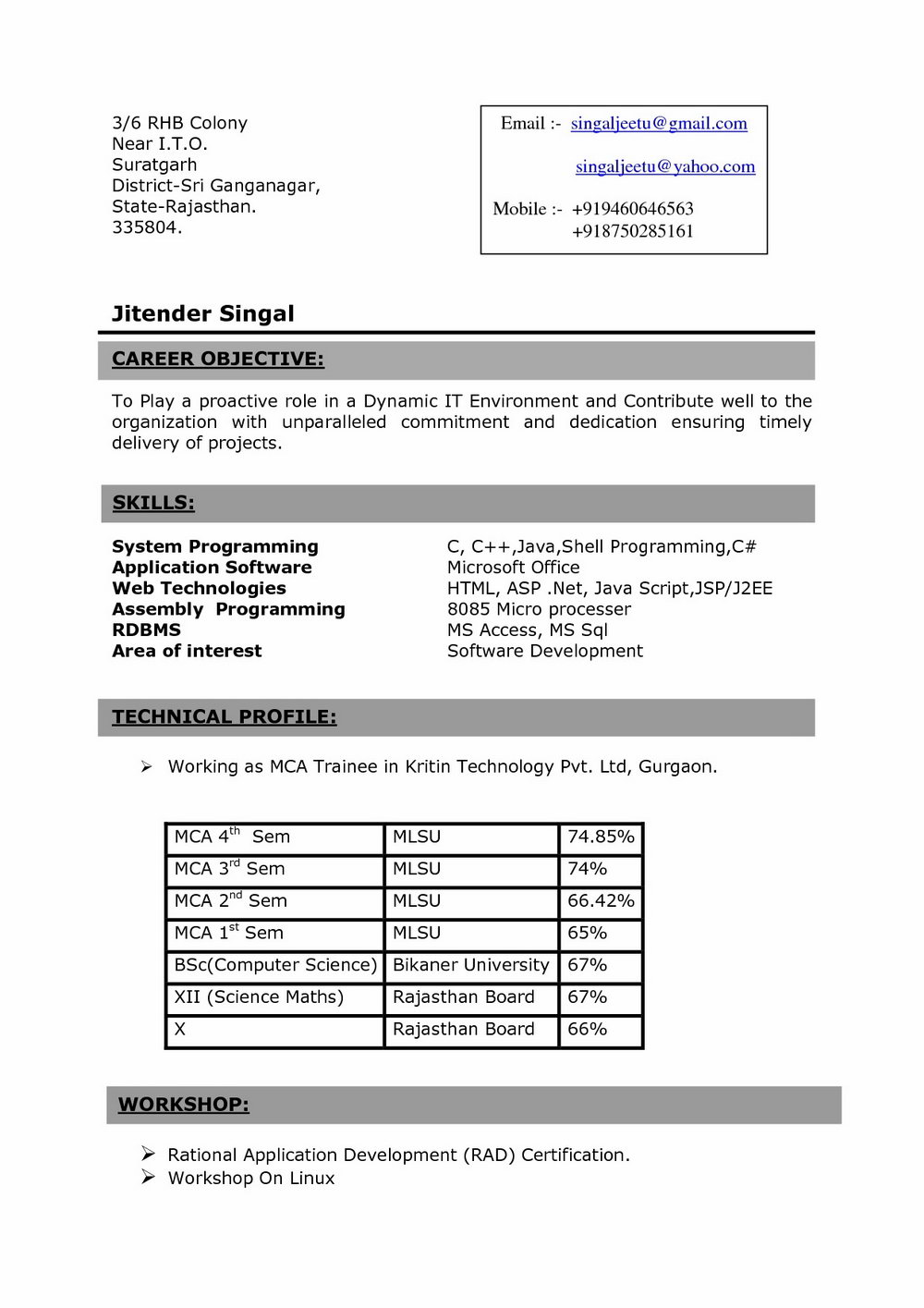 Resume Format For Civil Engineers Pdf Free Download