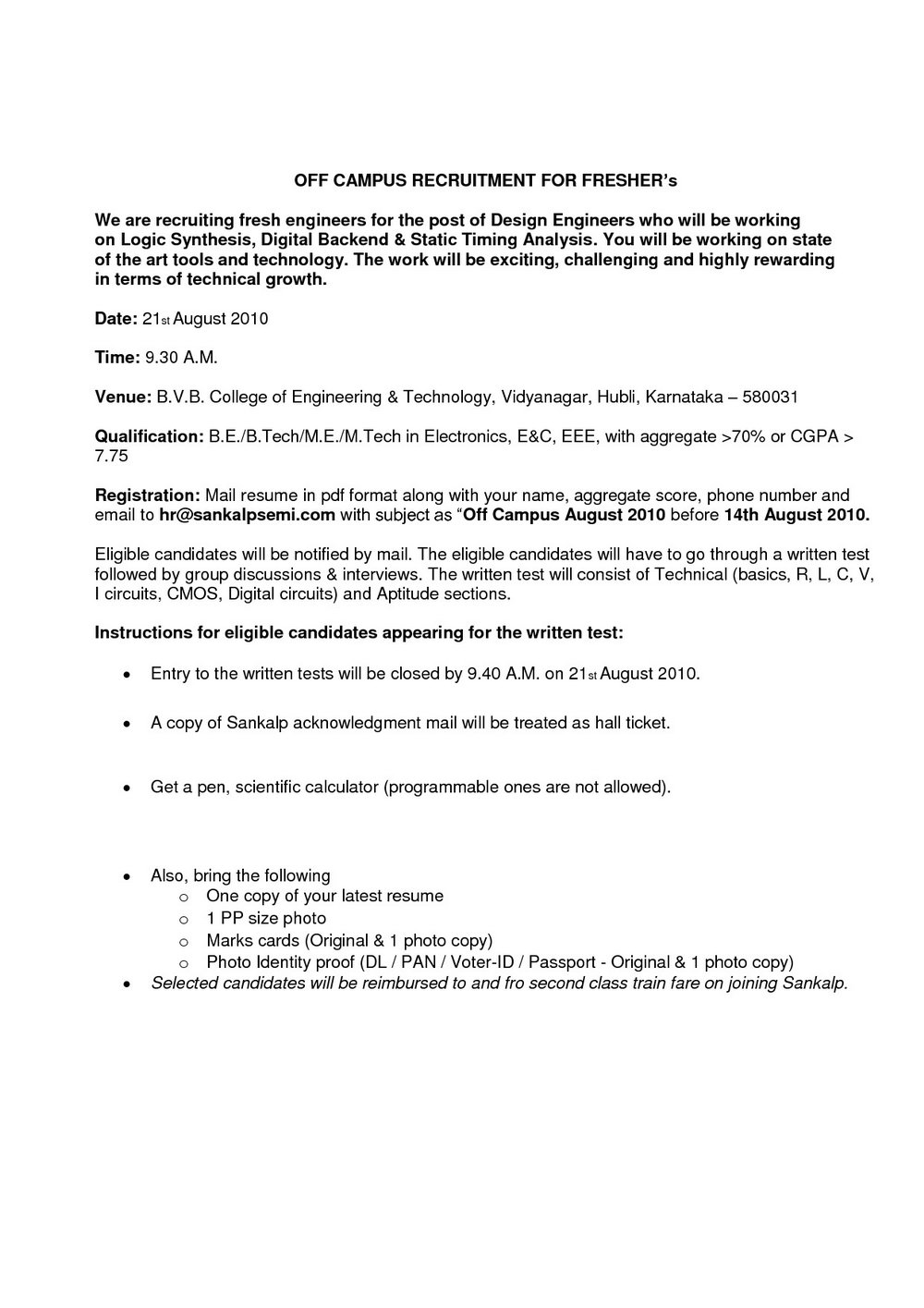 Resume Format For Freshers Civil Engineers Pdf Free Download