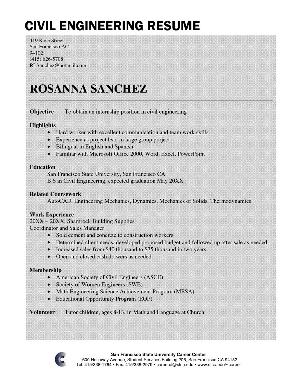 Resume Format For Freshers Engineers In Word Download Free
