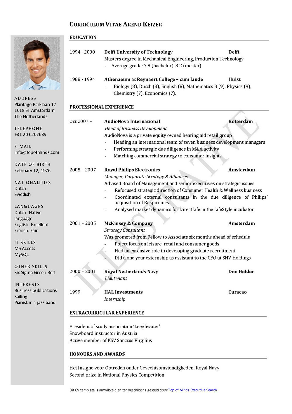 Resume Format Free Download For Experience