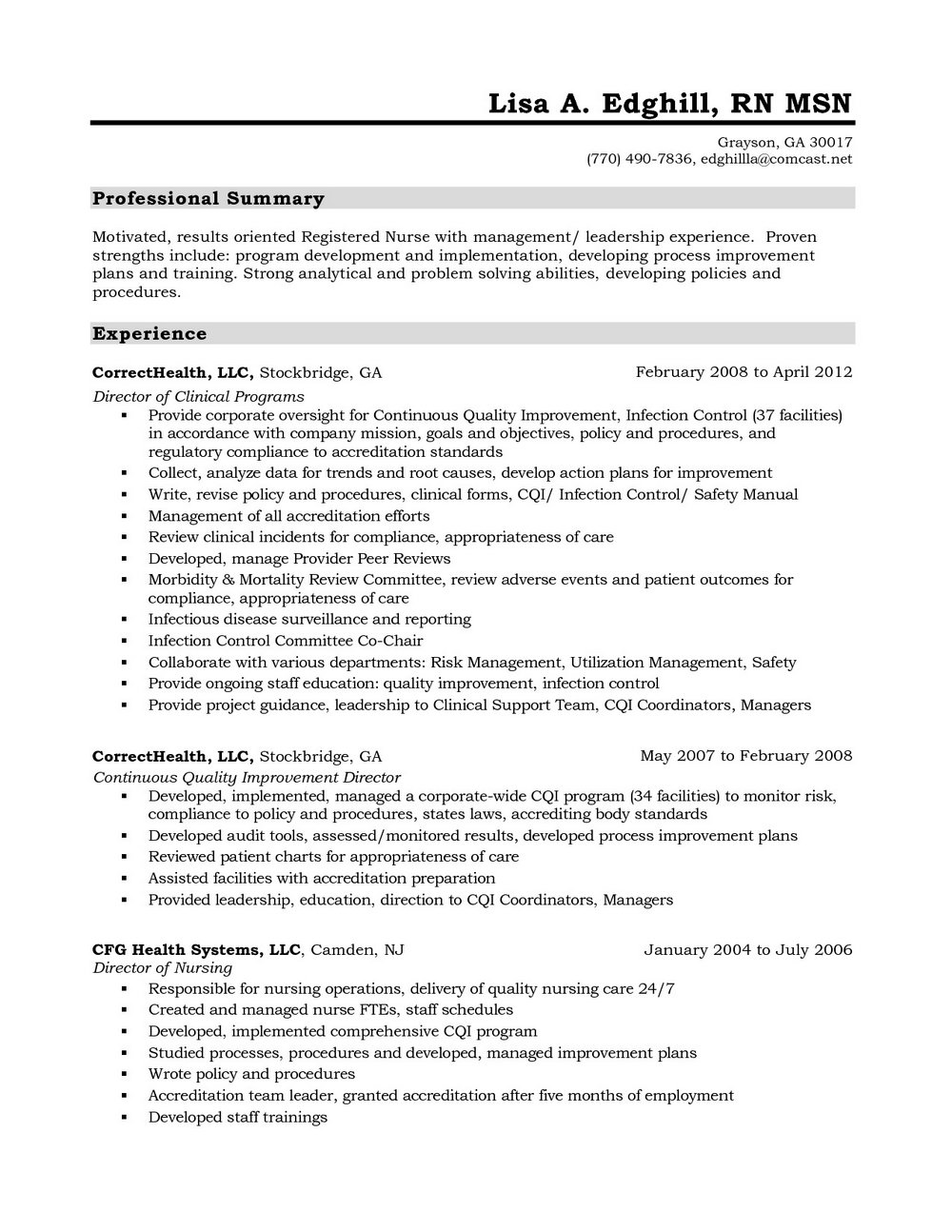 Resume Objective For Registered Nurse