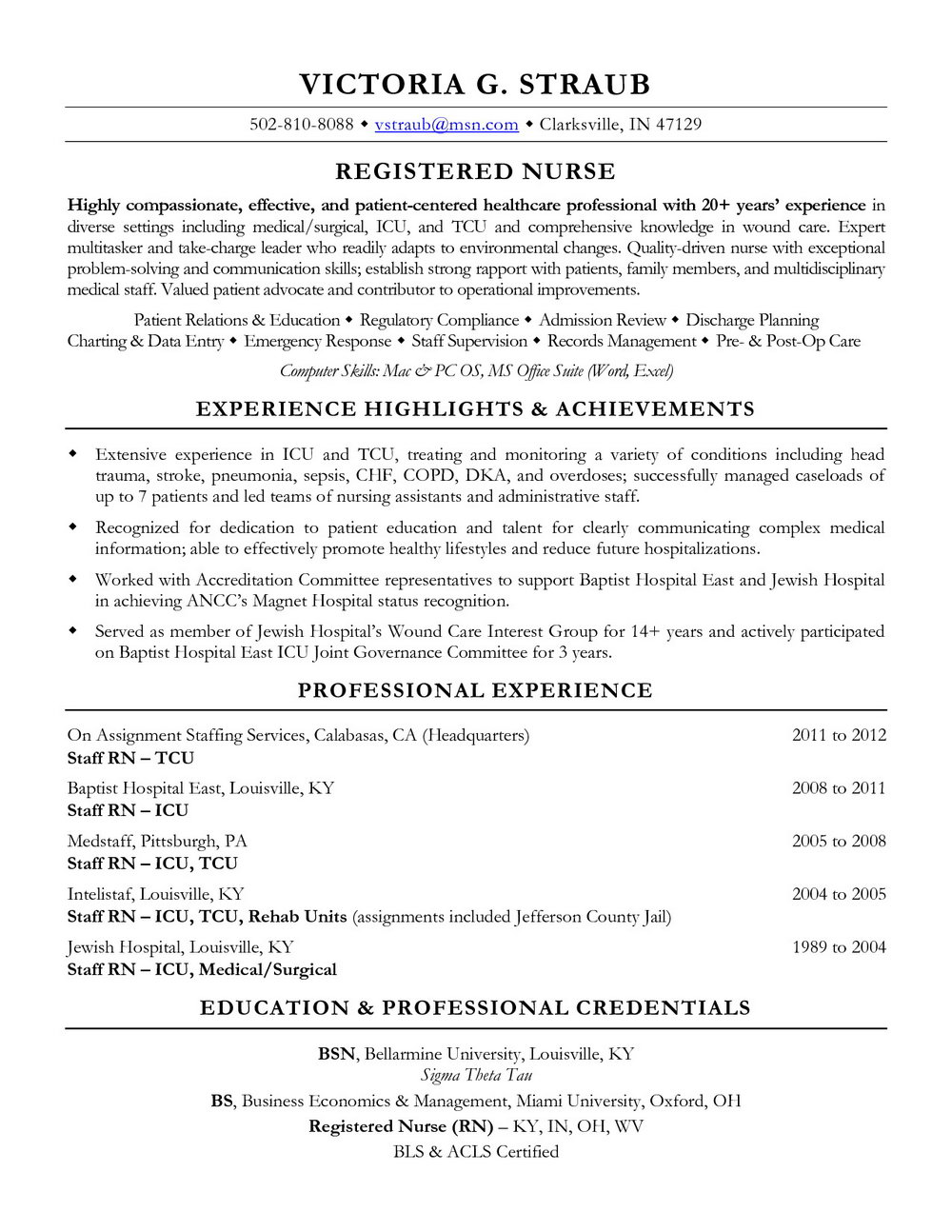 Resume Sample For Nurses Philippines
