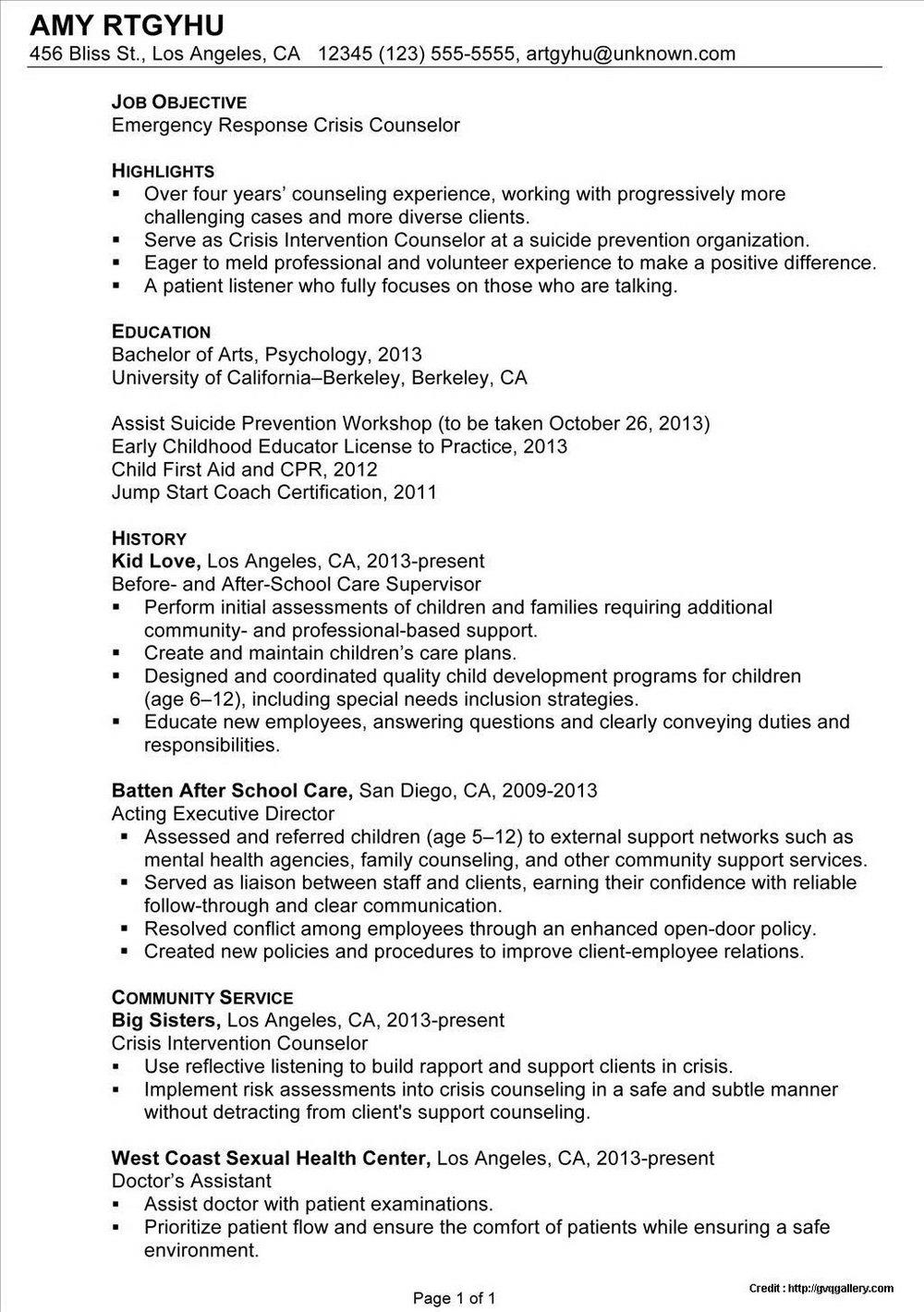Resume Service San Diego Ca