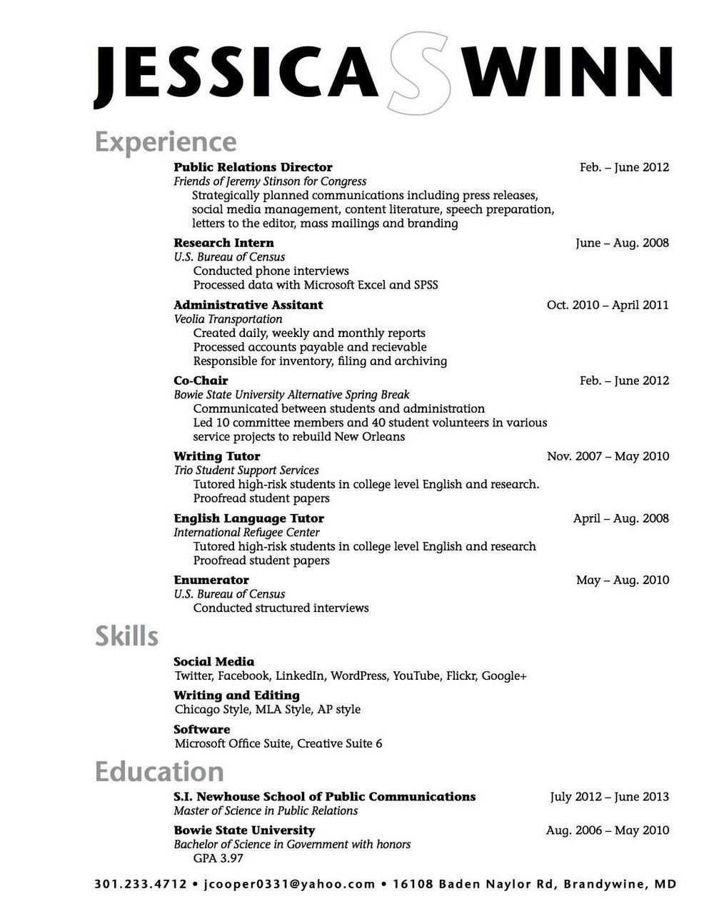 Resume Template For High School Student Doc