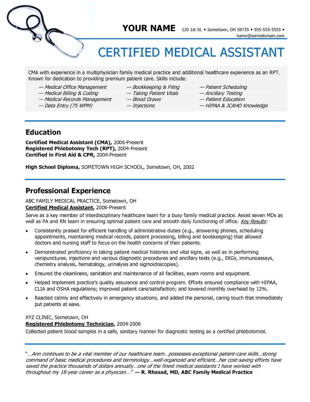 Resume Template For Medical Coder