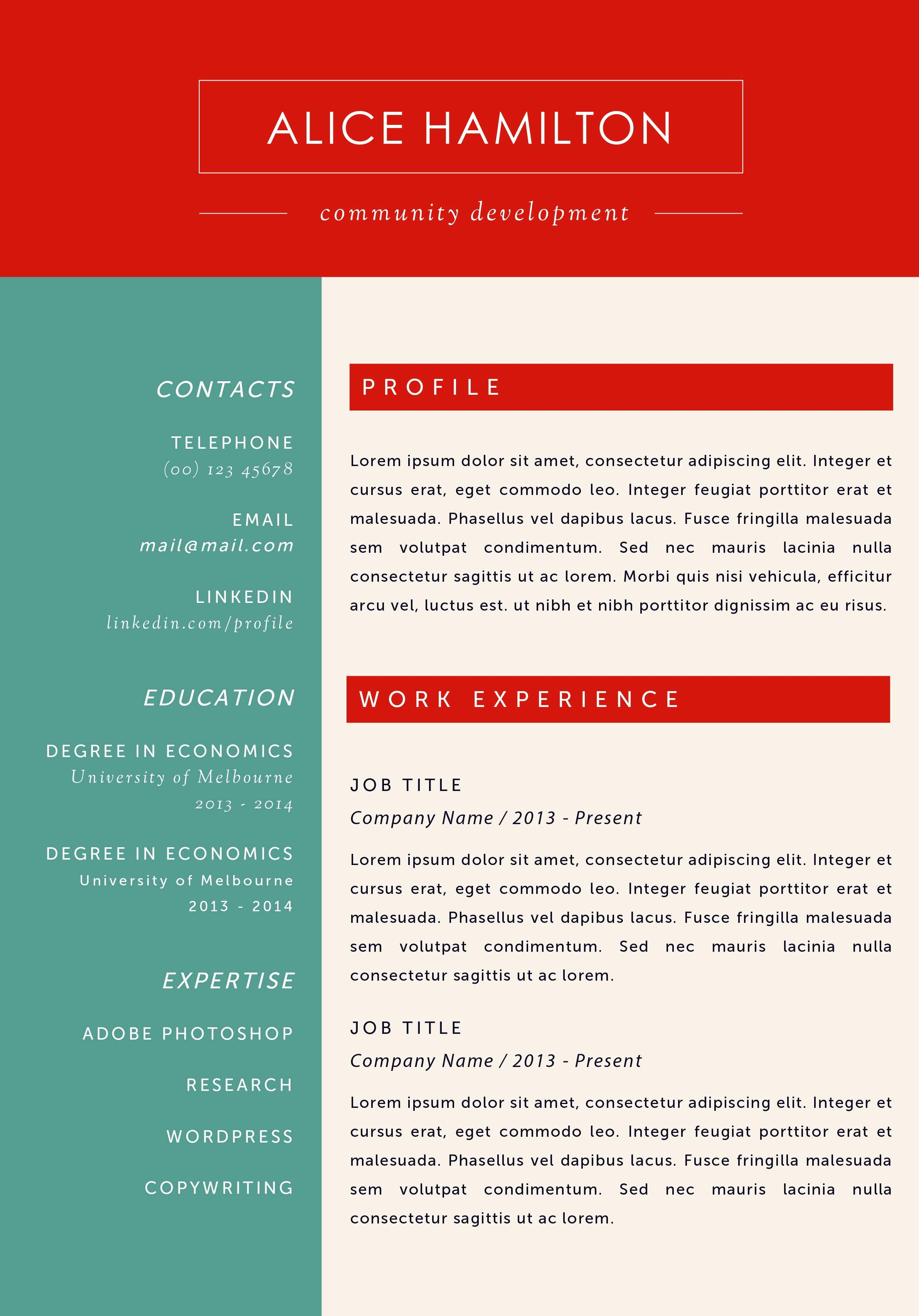 Resume Templates For Machine Operator