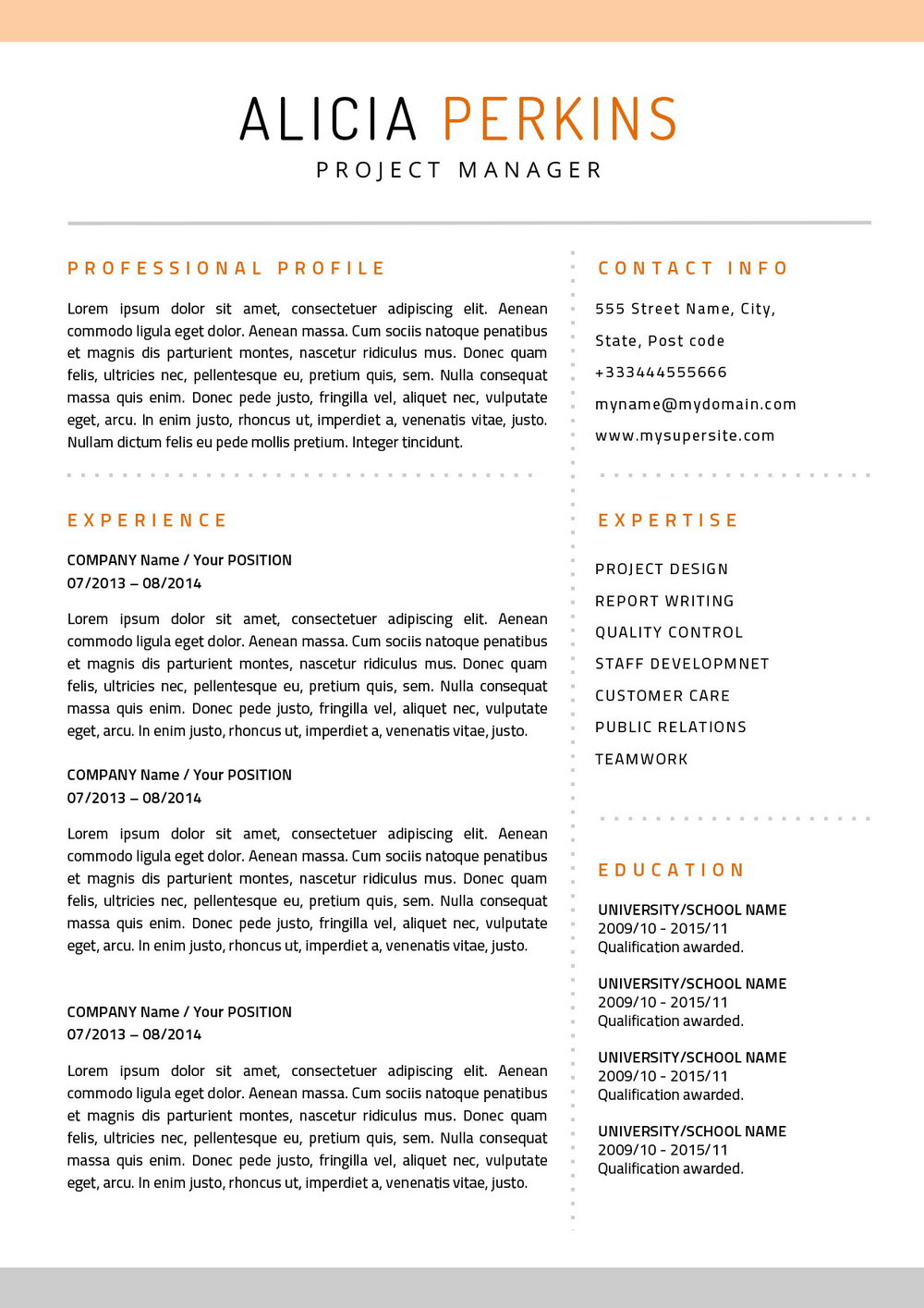 Resume Templates For Macs