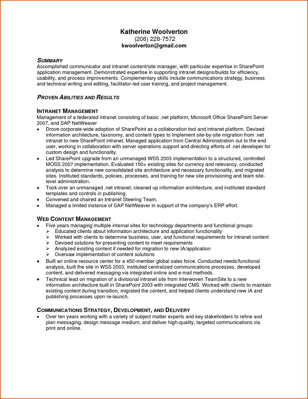 Resume Templates For Microsoft Word 2013