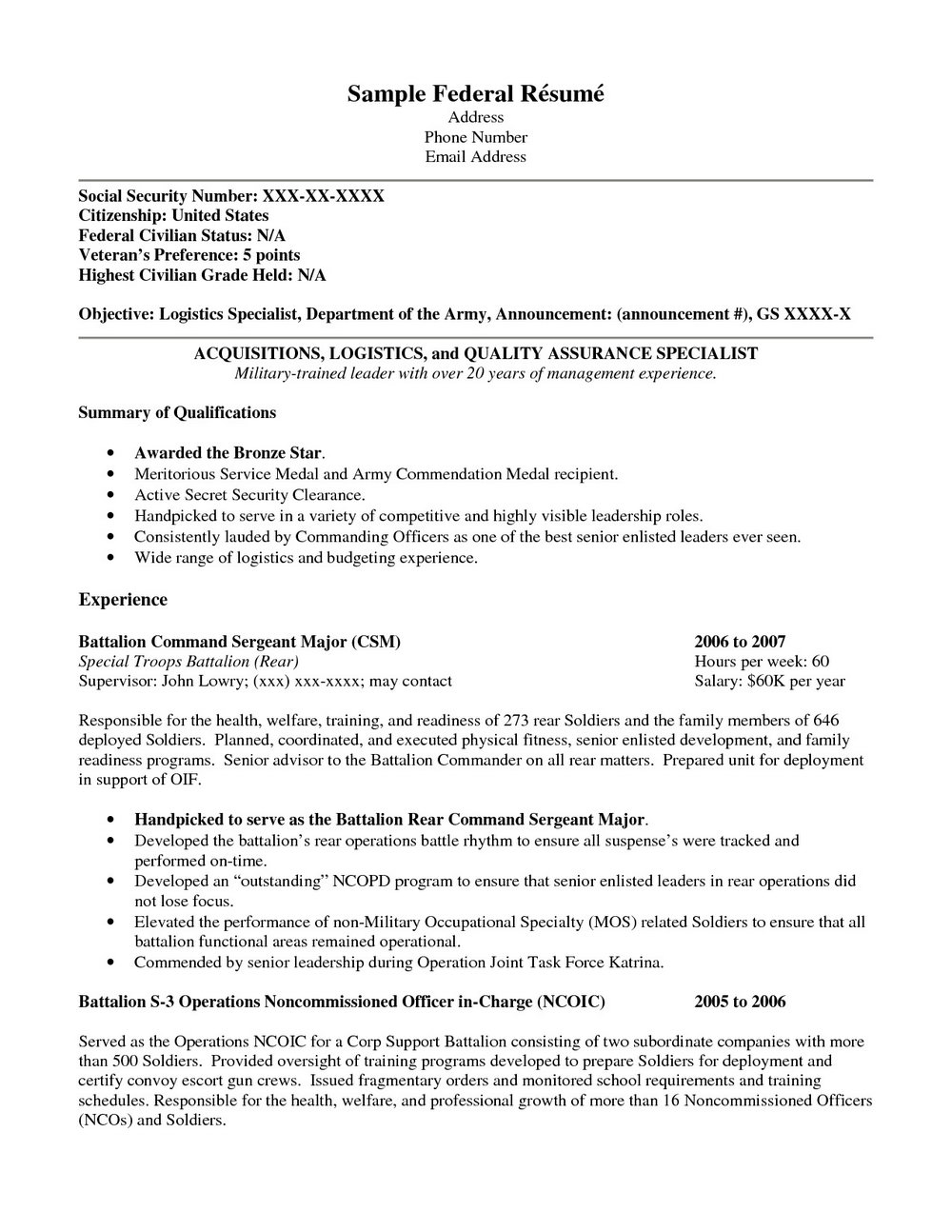 Resume Writing Help For Veterans