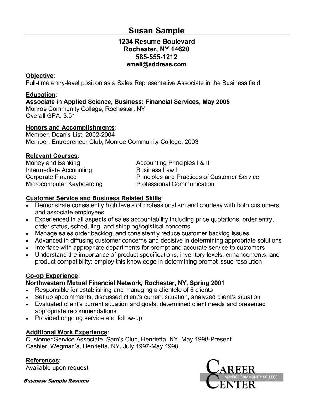 Retail Customer Service Resume Samples Free
