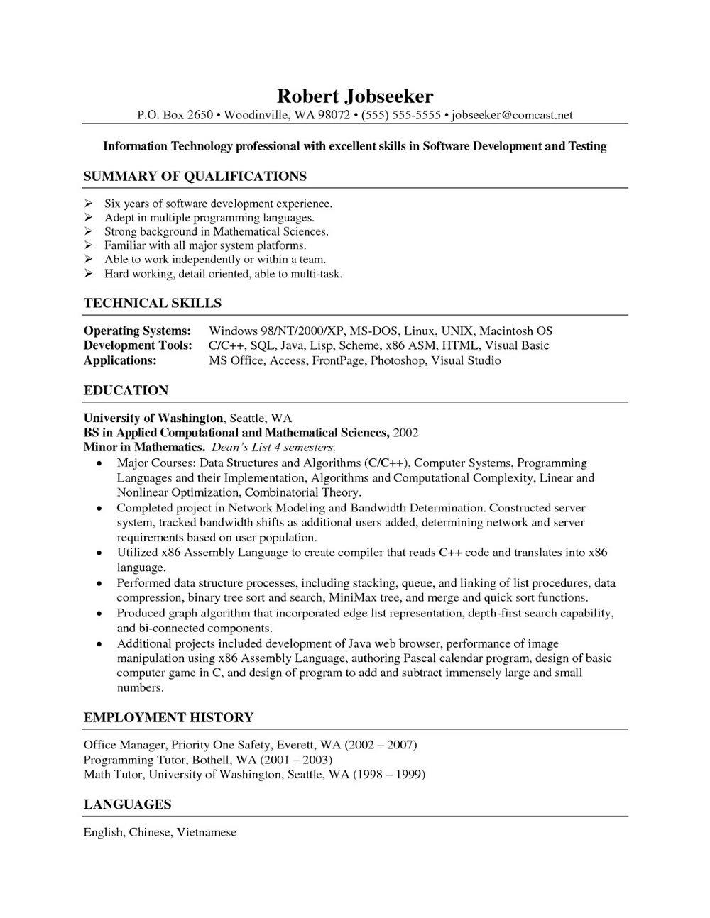 Resume cover letter for medical billing