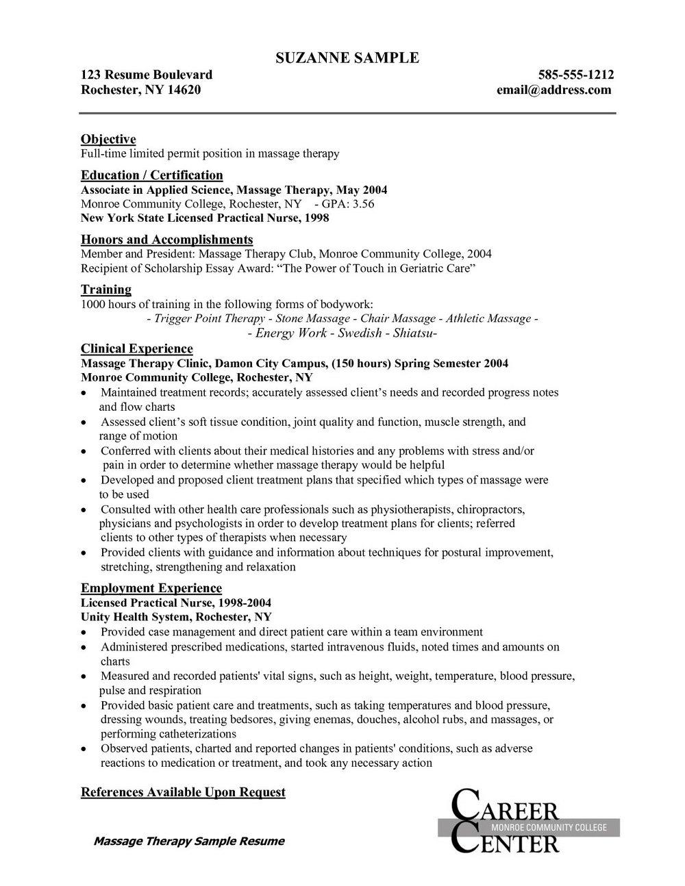 Sample Resume For An Rn Career Change