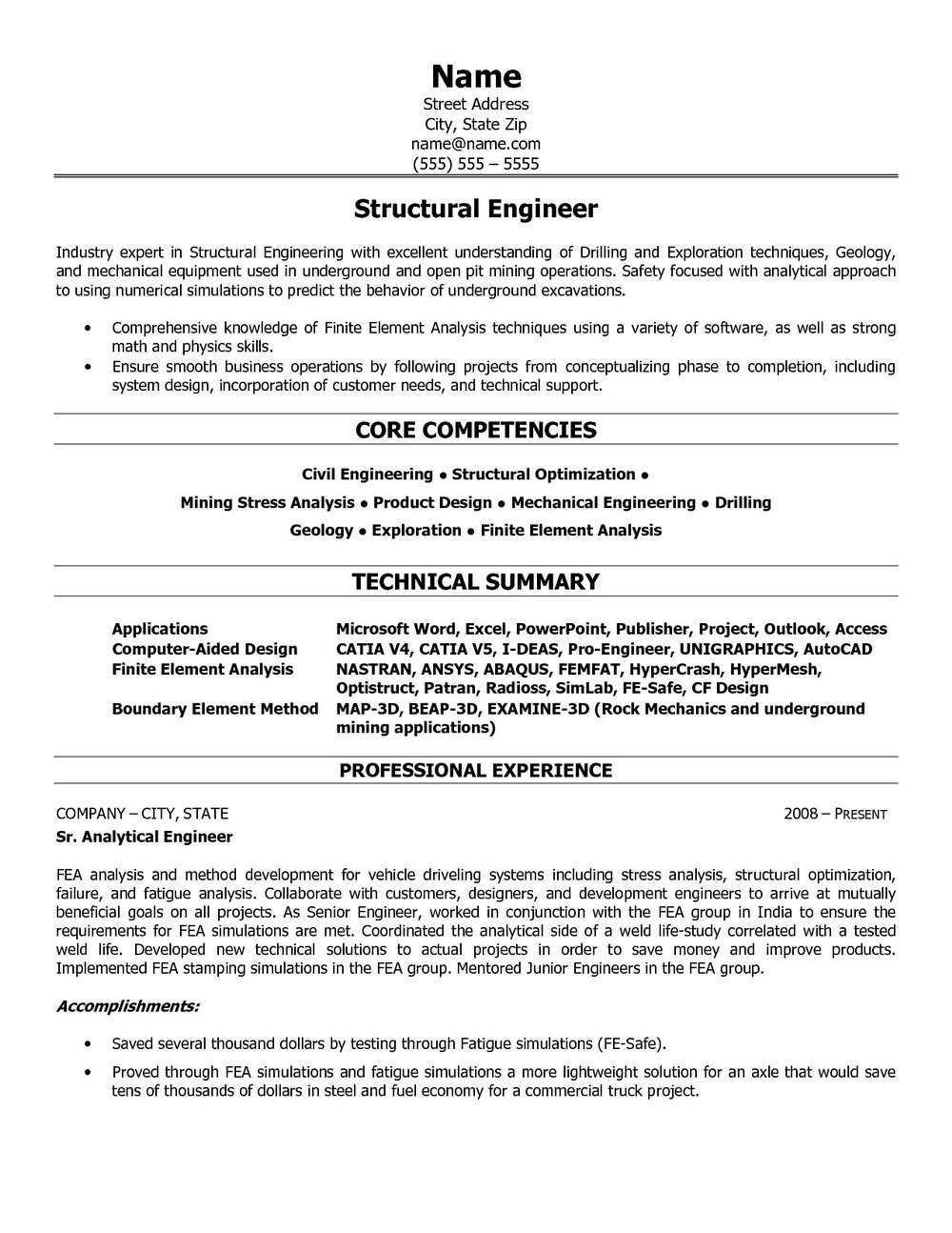 Sample Resume For Electrical Engineer Maintenance Pdf