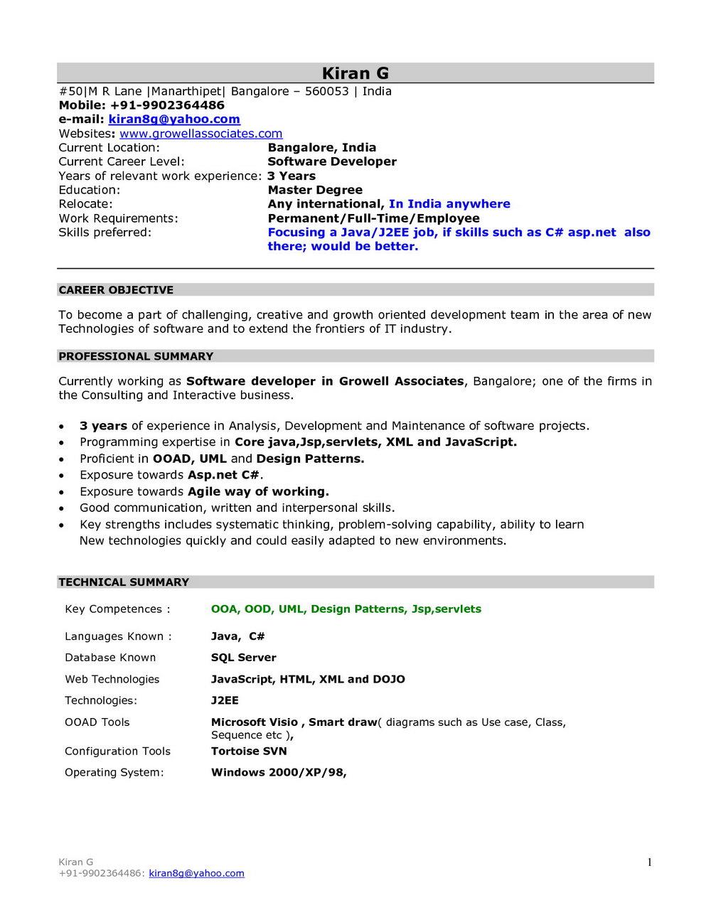 Sample Resume For Freshers Mba Marketing