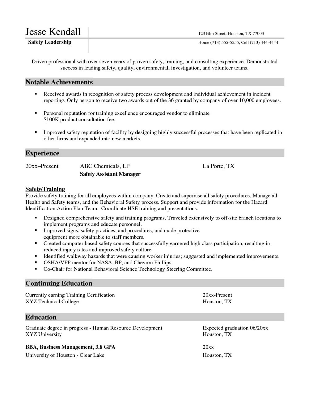 Sample Resume For Nurse Manager Position