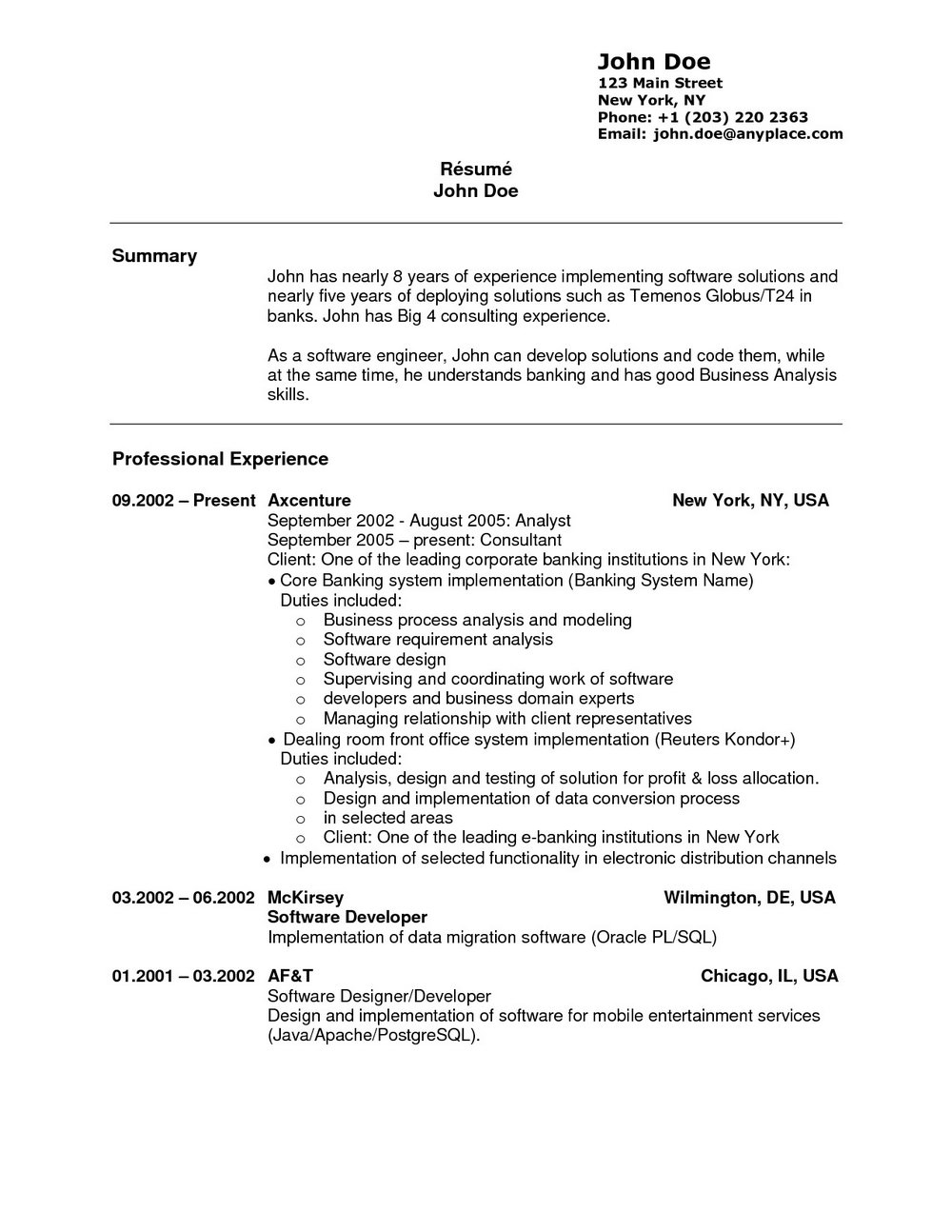 Sample Resume For Teller Position With No Experience
