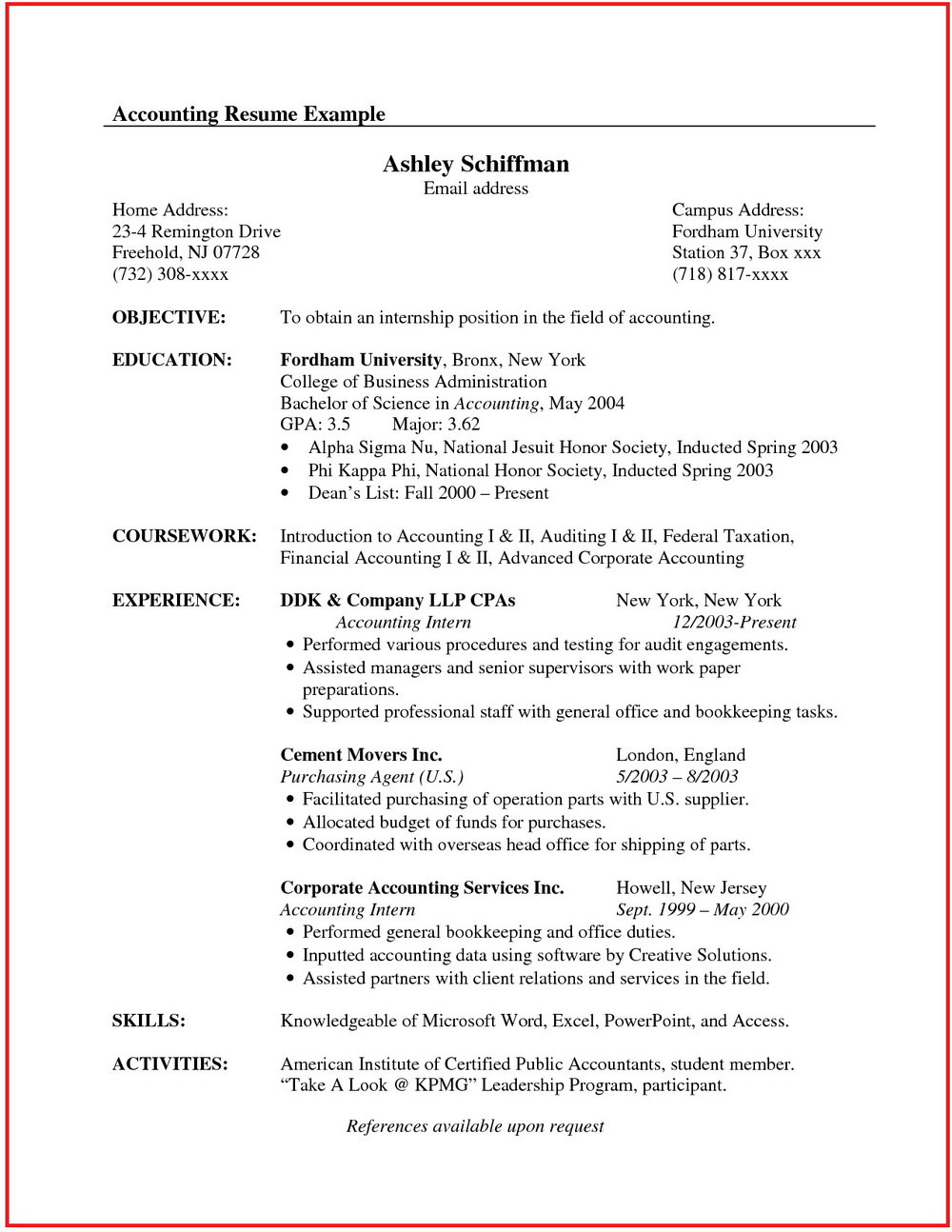 Sample Resumes For Jobs In Customer Service