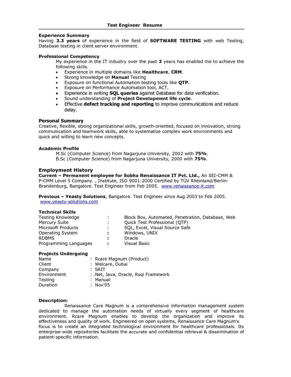 Sample Rn Resume Summary