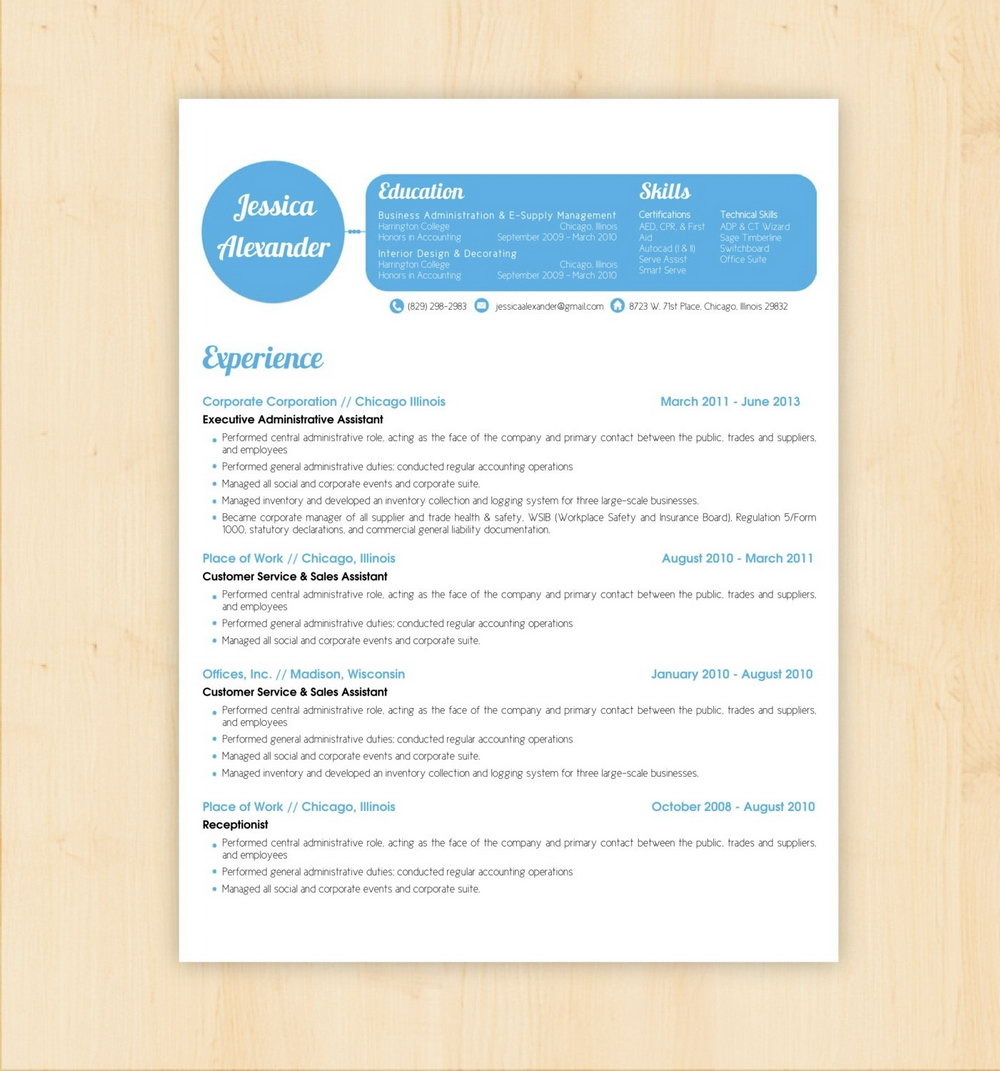 Simple Resume Format Word Free Download