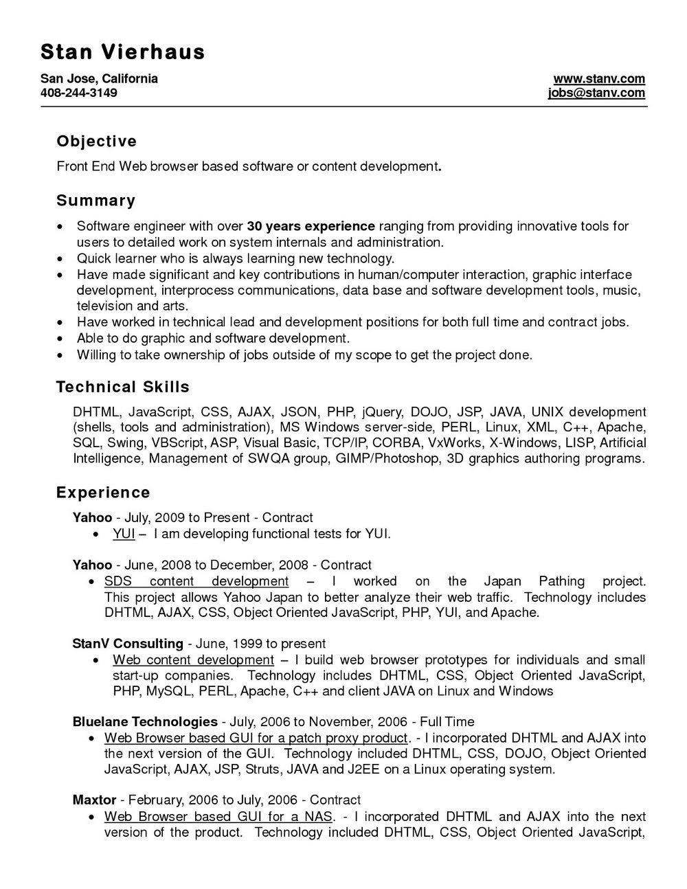 Template Resume Microsoft Word 2010