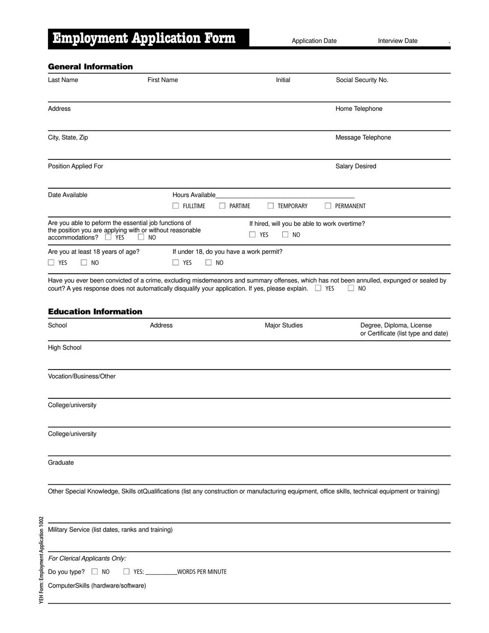 Tim Hortons Job Application Form Online Canada
