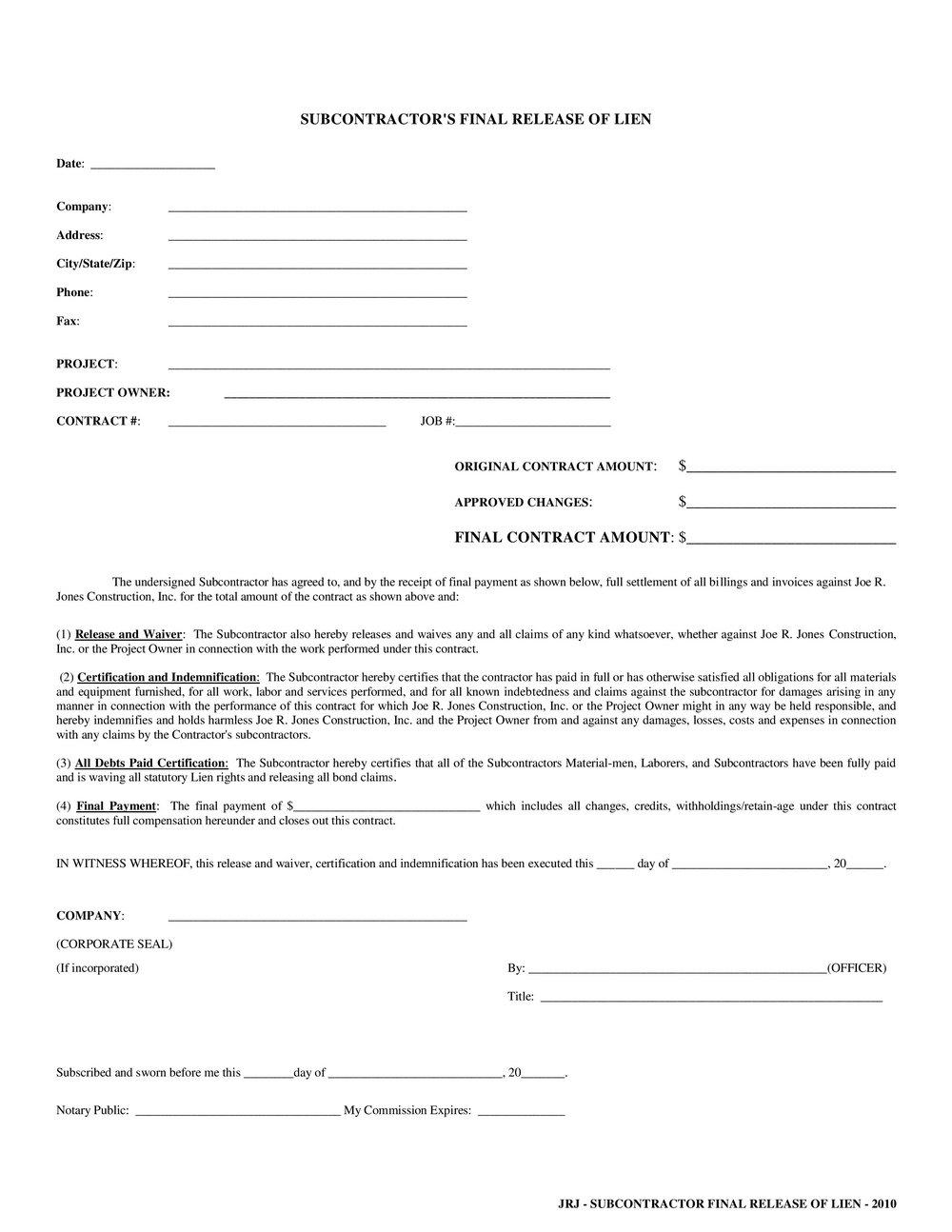 California Mechanics Lien Preliminary Notice Form