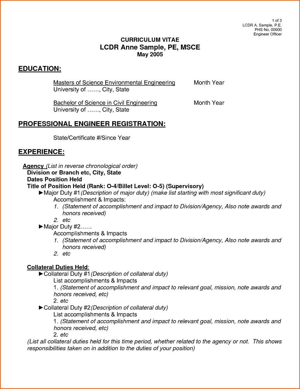 Download Resume Format Pdf