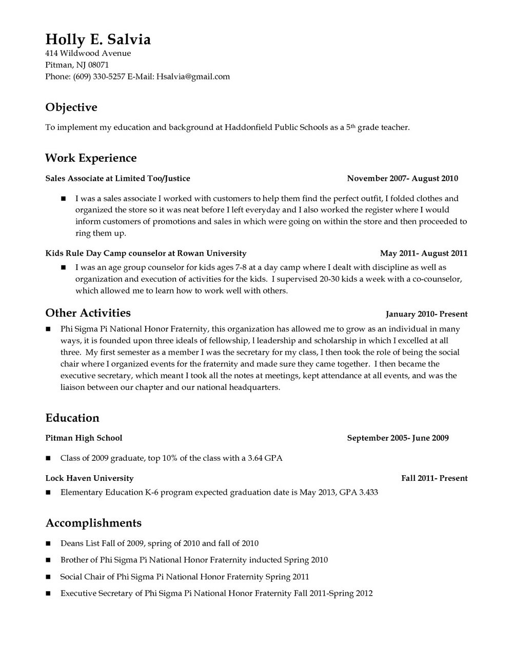 Er Registered Nurse Resume Sample