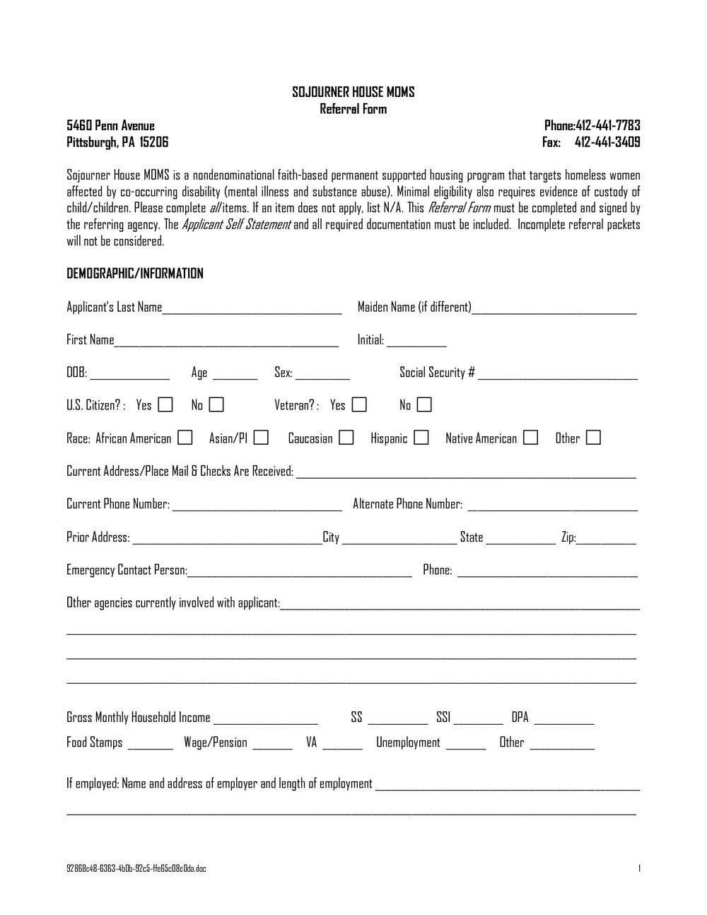 Eviction Notice Form Washington State