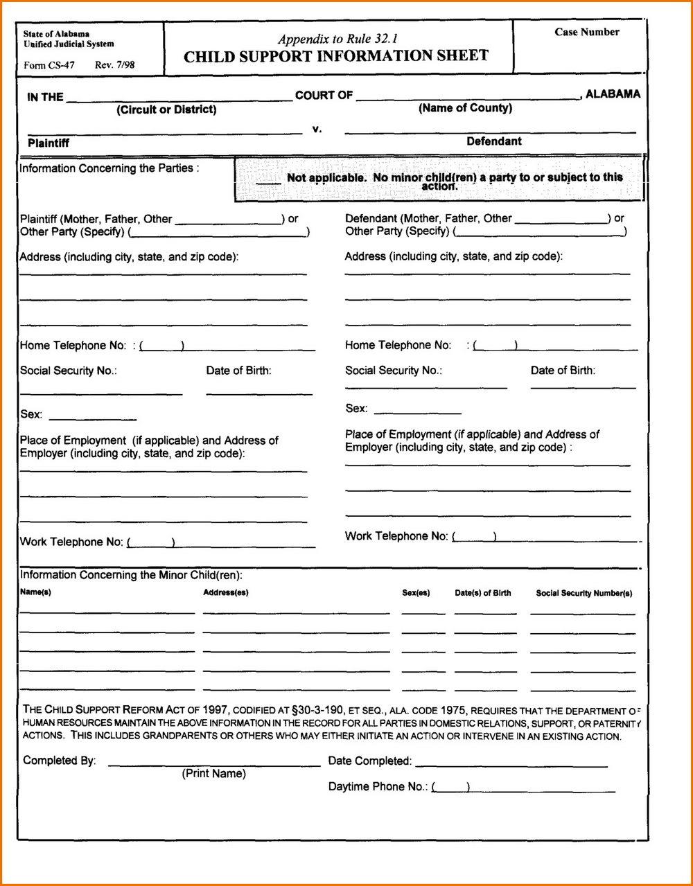Florida Divorce Forms Checklist