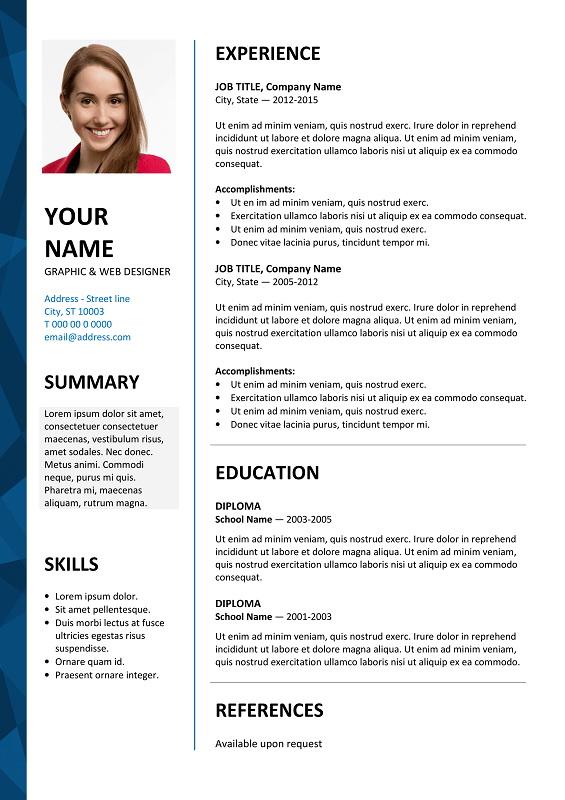 Free Editable Resume Template Microsoft Word