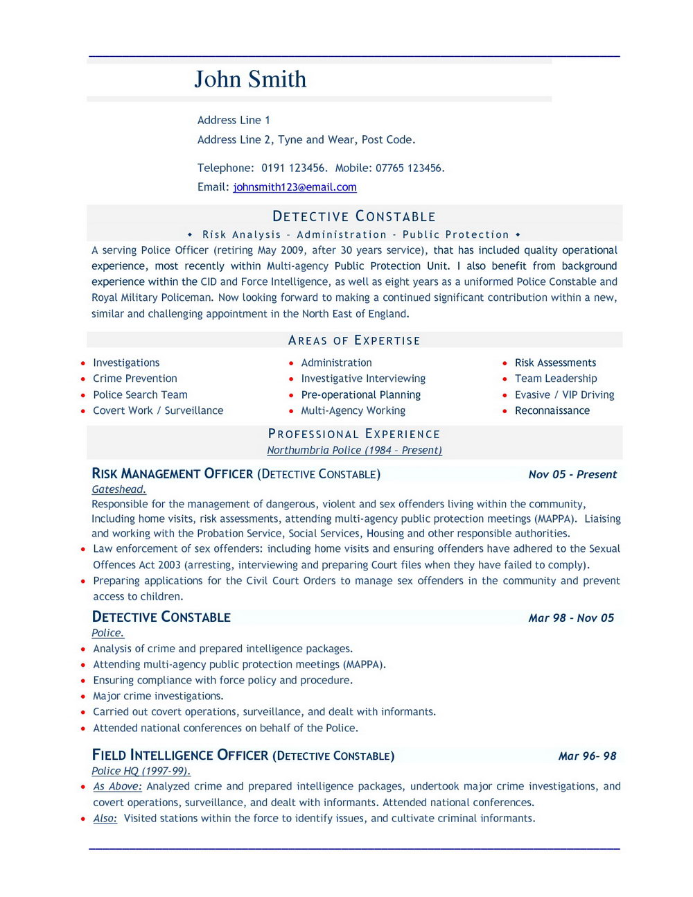Free Resume Template Download 2017