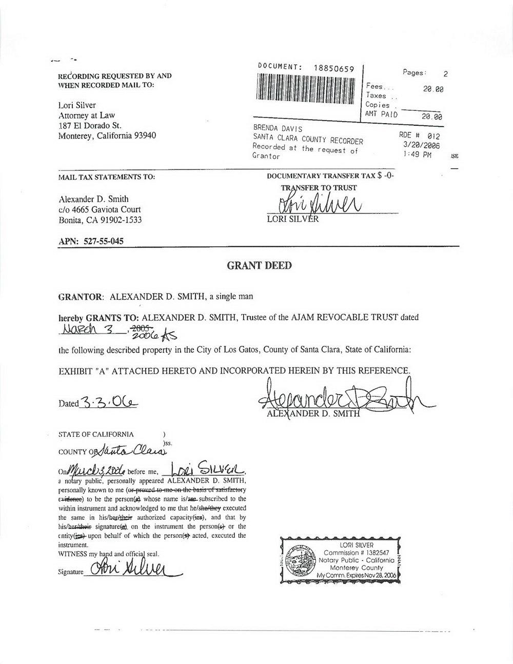 Grant Deed Form Sacramento County