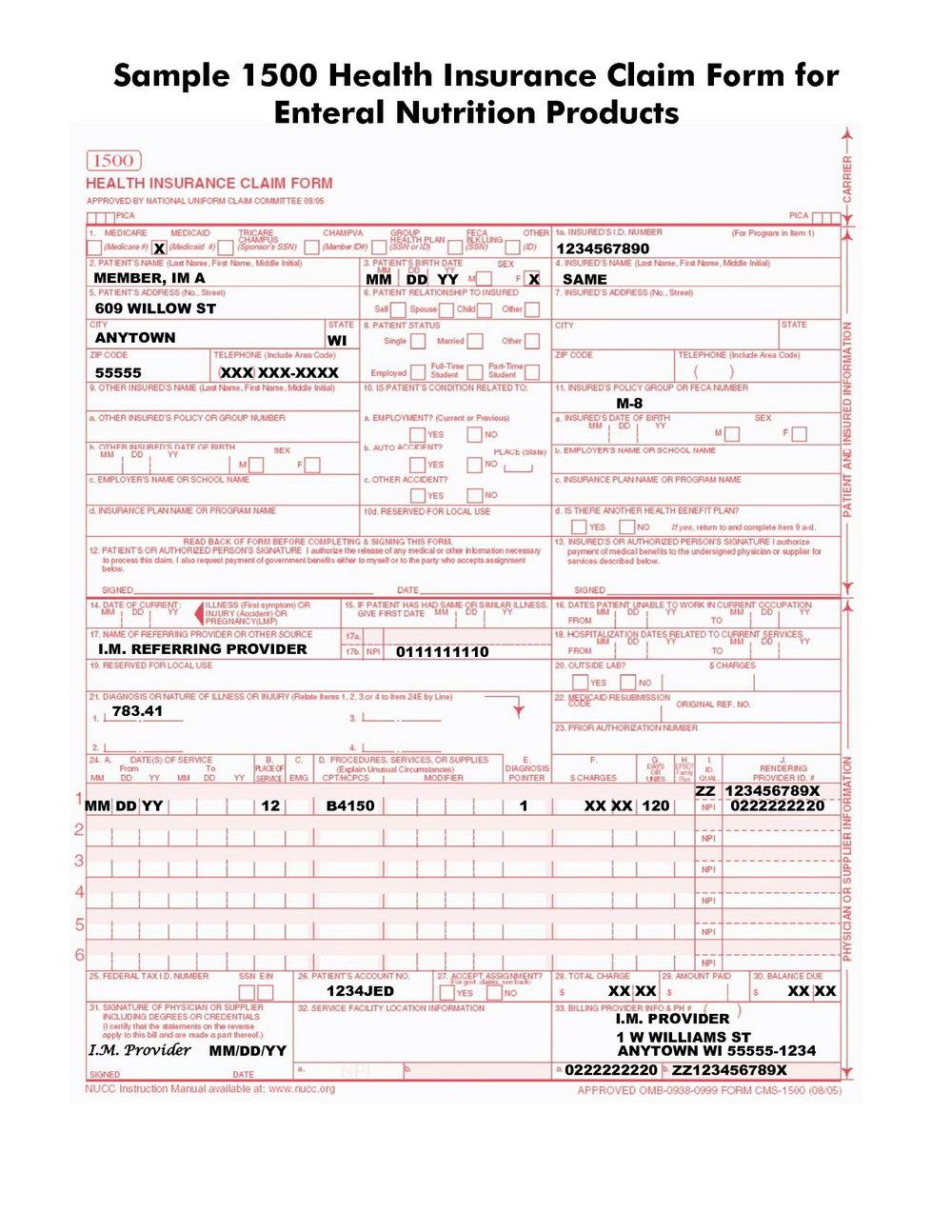 Hcfa 1500 Form Box 24j