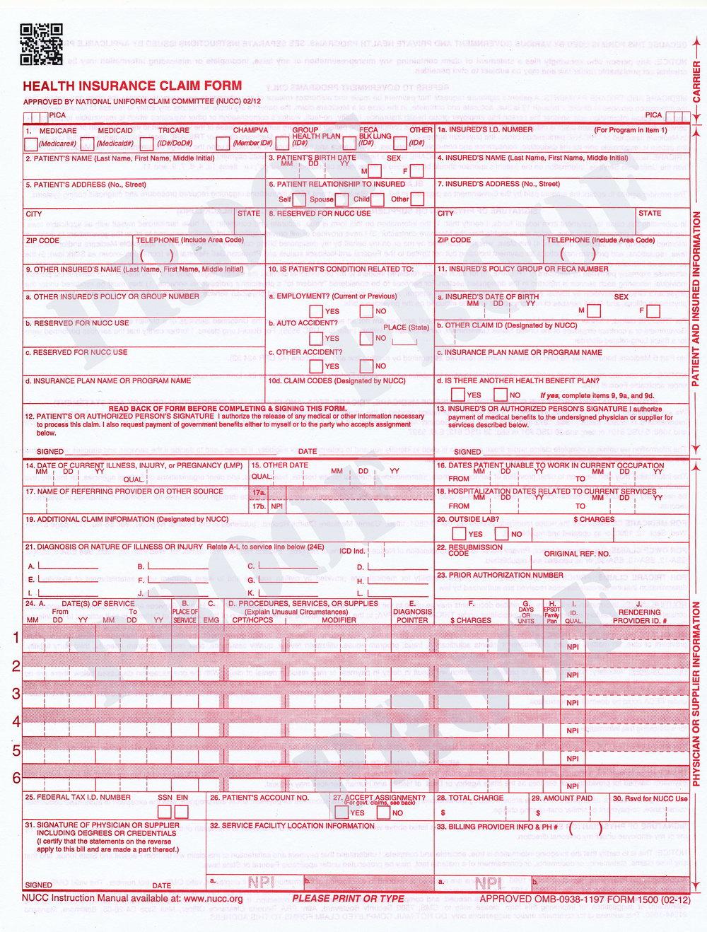 Hcfa 1500 Form Download