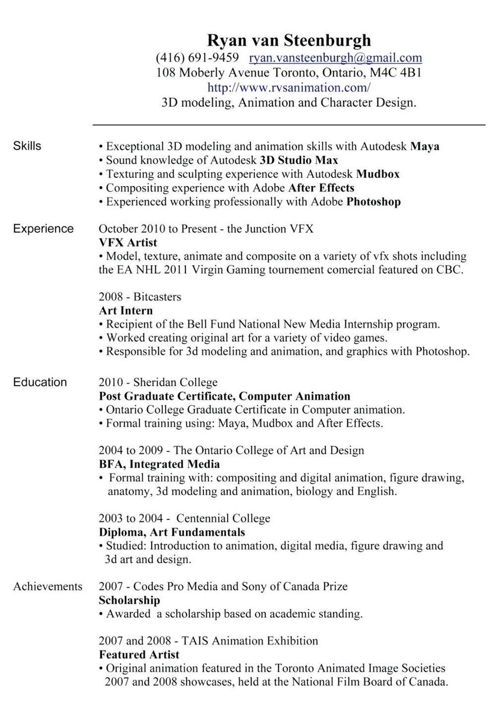 Latest Resume Format Doc India