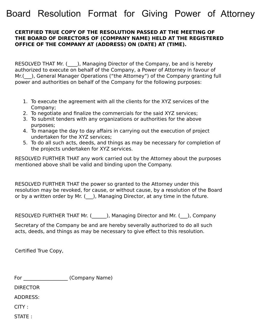 Medical Power Of Attorney Form Pa Free