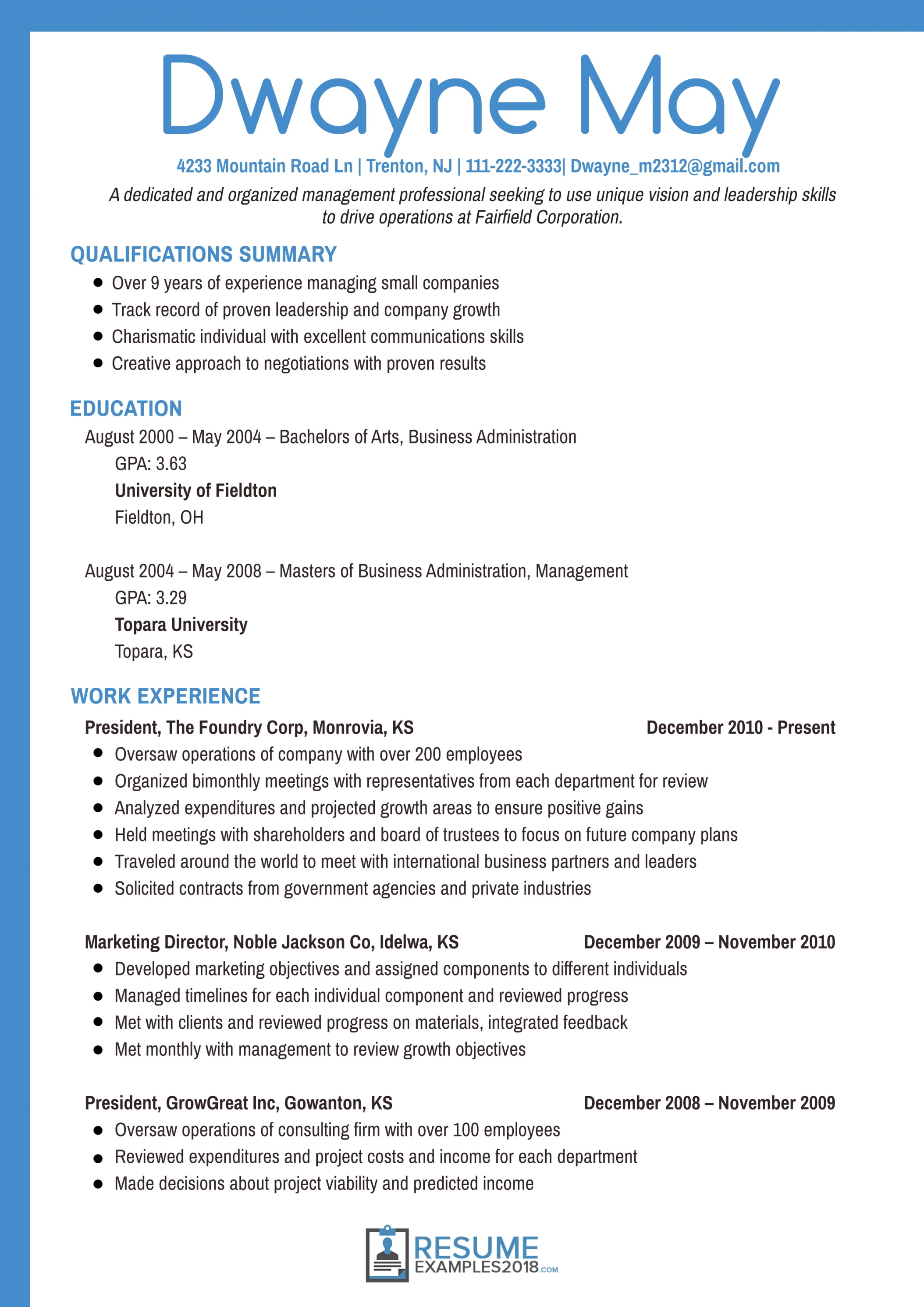 Professional Resume Samples 2018 | Fieltro Intended For Resume E