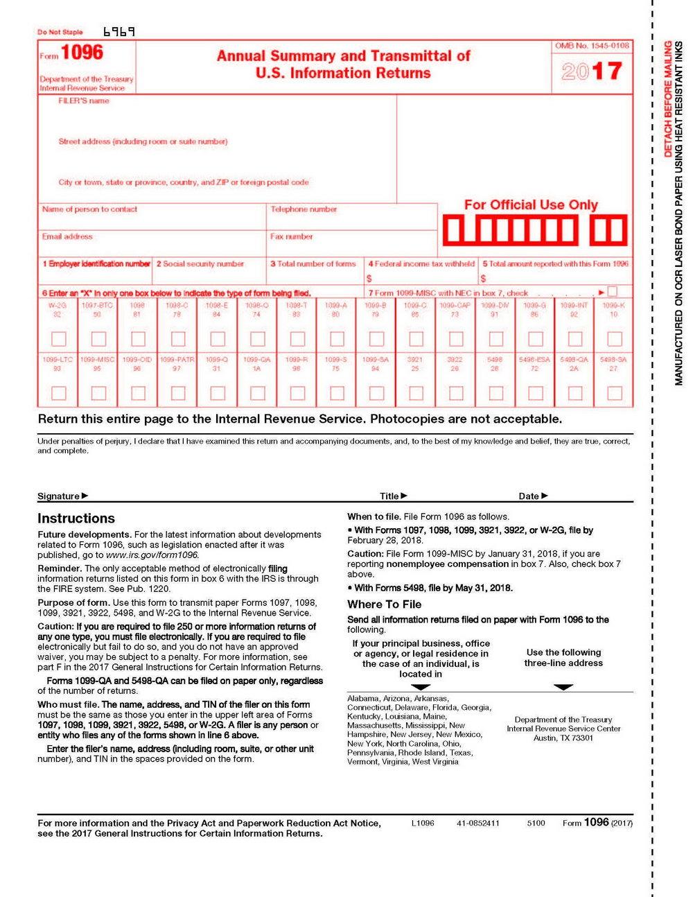 Printable 1099 Form 2017 Copy B